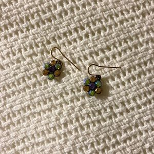 Multicolored flower earrings